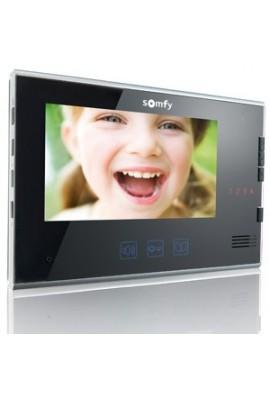Somfy moniteur visiophone V250/V400/v600 noir (so 2401187) Moniteur idéal pour mettre à l'étage de la maison, commande RTS de 5