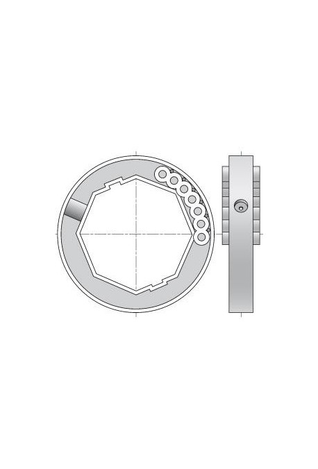 SOMFY Bague d'adaptation Blocksur pour tube octo 60 (SO 1780117)