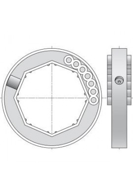 Somfy bague d'adaptation Blocksur tube octo 70 (so 1780118)