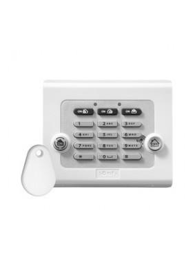 Somfy alarme : clavier de commande avec 1 badge (so 2401241) permet la mise en marche totale ou partielle de système d?alarme et