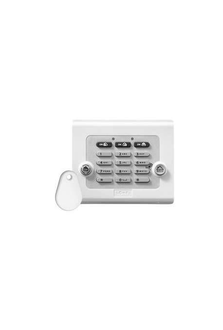 Somfy alarme : clavier de commande avec 1 badge (so 2401241)