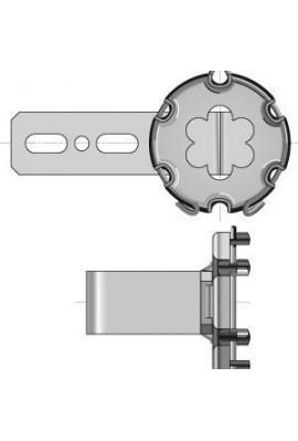 SOMFY Support moteur avec anneau d'arrêt LT50/LT60 - déport 60 mm (9763607) remplace par so 9763507 Pour montage en caisson tu