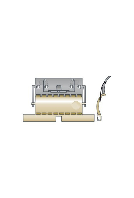 SOMFY Attache rigide de tablier de volet roulant CLICKSUR ZF 1 maillon pour lames de 14 mm (SO 9012487)