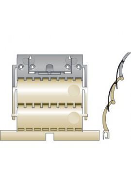 SOMFY Attache rigide de tablier de volet roulant CLICKSUR ZF 2 maillons pour lames de 14 mm (SO 9012488) Compatible avec opérate