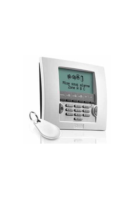 Somfy alarme : clavier LCD blanc avec badge (so 2401013)