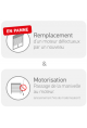 Somfy bloc-baie remplacement & motorisation RS100 6 Nm io (so 1030135)