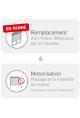 Somfy kit remplacement motorisation bloc baie Fen RTS 6Nm (so 1030099)