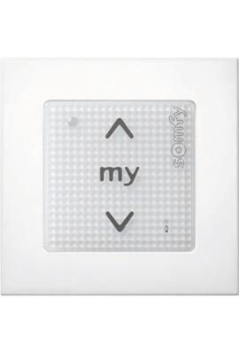 Somfy point de commande Smoove sensitif IO blanc (so 1800324) commande murale radio IO 1 canal bouton sensitif