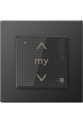 Somfy point de commande Smoove sensitif IO avec cadre noir mat (so 1800326) commande murale radio IO 1 canal bouton sensitif