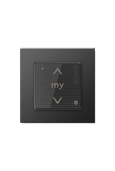 Somfy point de commande Smoove sensitif IO cadre noir mat (so 1800326)