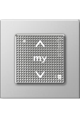 Somfy point de commande Smoove IO avec cadre coloris silver lounge (so 1800325) Commande murale radio 1 canal bouton sensitif
