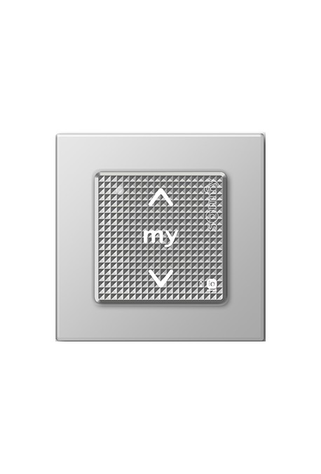 Somfy point de commande Smoove IO avec cadre coloris silver lounge (so 1800325)