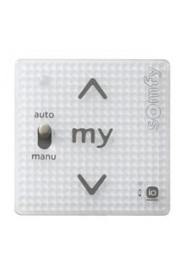 Somfy module Smoove sensitif IO Auto/Manu blanc (so 1811013) Commande murale radio IO bouton sensitif (à associer à un cadre)