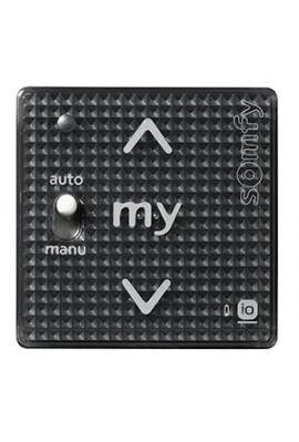 Somfy module Smoove sensitif IO Auto/Manu noir (so 1811015) Commande murale radio IO bouton sensitif - à associer à un cadre
