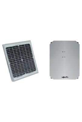 Somfy kit d'alimentation solaire (so 2400961) alimente le moteur de portail ou de porte de garage dépourvu de ligne 230v