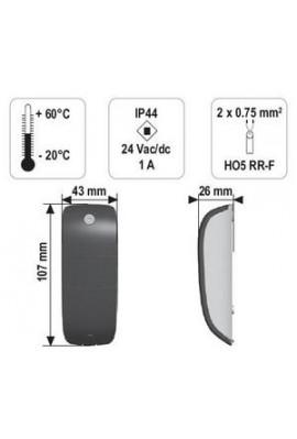 Somfy jeu de cellules photoélectriques (so 2400939) Dispositif obligatoire dans le cas d'un portail ou d'une porte de garage en