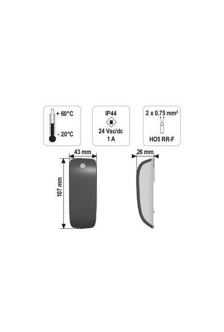 Somfy jeu de cellules photoélectriques de détection (so 2400939)