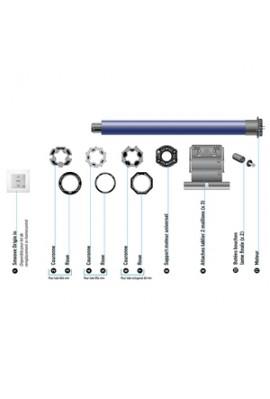 Somfy kit de remplacement moteur de volet roulant IO de fenêtre (so 2401529) pour coffre tunnel, menuisé ou rénovation
