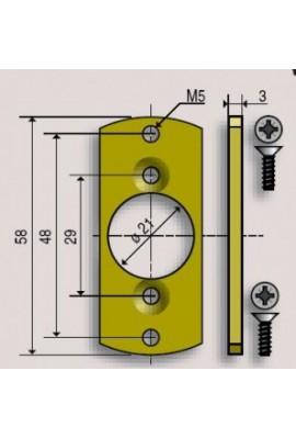 SOMFY Plaquette LO LS40 pour montage en caisson (SO 9147337)