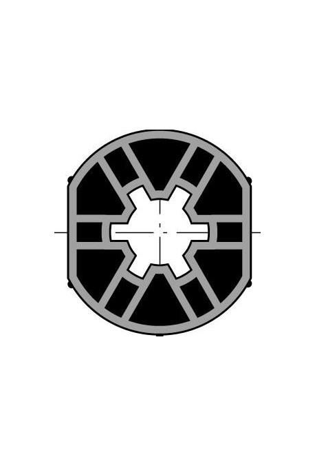 Somfy x10 roue pour moteur diam.40 pour tube lisse 40x1,5 (so 9147544)