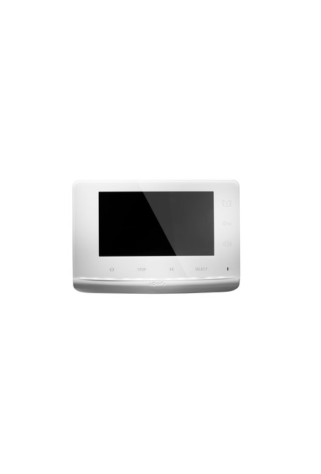 """Somfy visiophone V100 Plug and Play (so 2401330) Ecran 4"""""""", pilotage gâche et portail (serrure électrique + contact sec), pilota"""