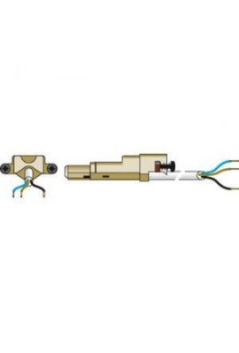 SOMFY Câble électrique VVF blanc 2,5 m 3 conducteurs pour moteur filaire double isolation (CL2) (SO 9203883) Equipé du connecteu