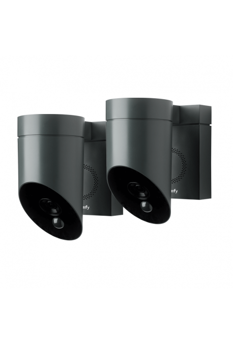 Somfy duo caméra outdoor de surveillance grise (so 1870472)