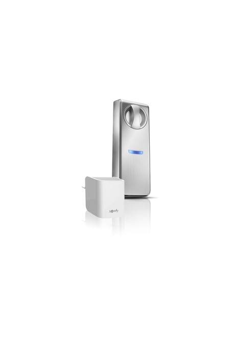 Somfy kit serrure connectée porte maxi 9 cm + passerelle (so 1811704)
