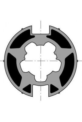 Somfy (x10) Roue Moteur Diam.50 Pour Tube WELSER Diam.70x1,5 / Goutte Plate (so 9410303)