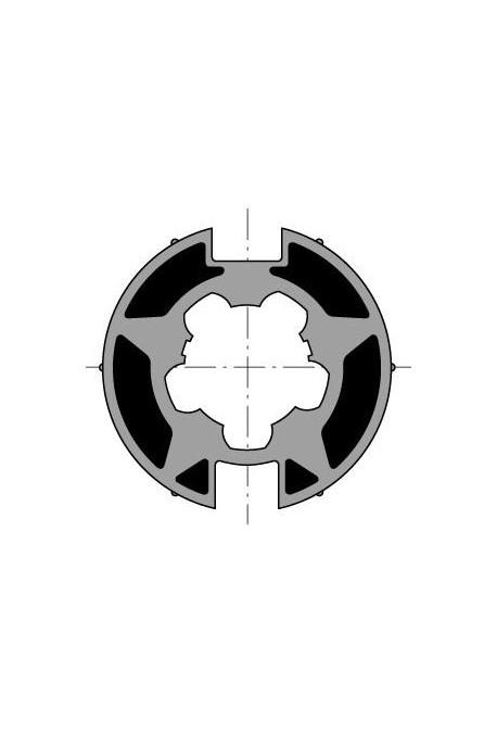 Somfy roue moteur diam.50 Welser diam.70x1,2 goutte plate (so 9410303)