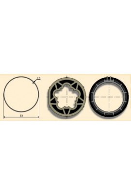 Somfy roue et couronne 50 tube ø 63 x 1,5 clippage faible (so 9410338)