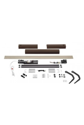 Somfy kit Yslo io Flex 2 vantaux marron bras noirs (so 1240176)