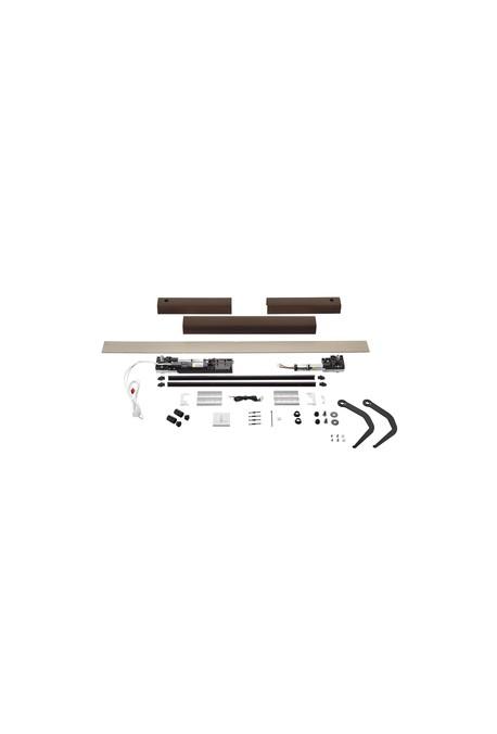 Somfy kit Yslo io Flex 2 vantaux marron bras noirs (so 1240176)