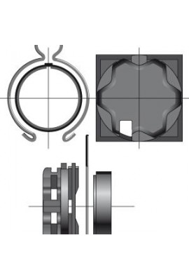 Somfy support diam.50 caisson elket tiroir 68 (so 9410624)