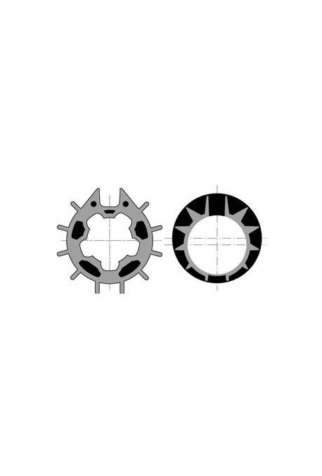Somfy roue couronne moteur 50 tube Dôhner 70 goutte 12 (so 9410313)