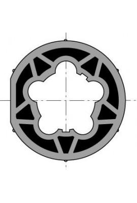 Roue moteur diam.60 tube diam.63x1,5 clippage dur (so 9420367)