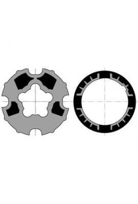 Somfy roue couronne moteur diam.60 tube 78 goutte plate (so 9420327)