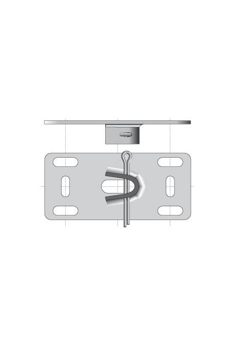 Somfy plaque support pour embout (so 9132065)