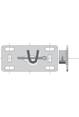 Somfy plaque zinguée réglable pour embout (so 9520600)