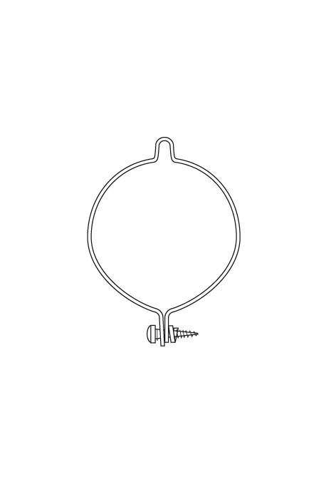 Somfy anneau d'arrêt verrouillable support diam.50 et 60 (so 9910002)
