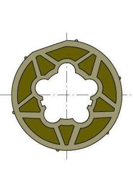 Somfy roue moteur diam.60 tube diam.70x2 clippage faible (so 9420357)