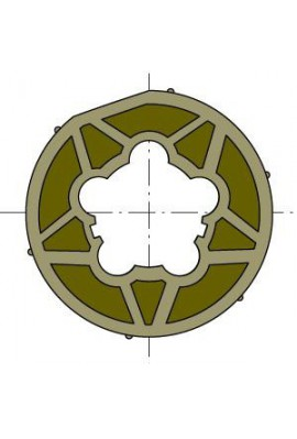 Somfy (x10) roue LT 50/60 tube 70x2 clippage faible (SO 9420357)