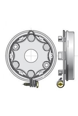 SOMFY Support LT60 - entraxe 44 - anneau verrouillable (9420638)