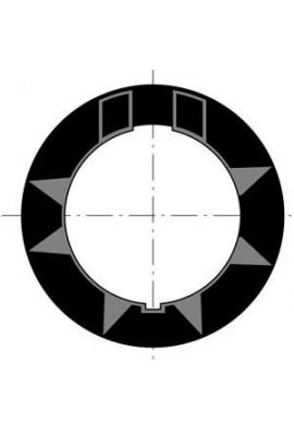 Somfy Couronne moteur 50 tube 70x1,5 goutte ronde  (x10) (so 9510333)