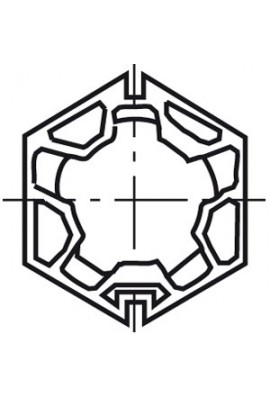 Somfy roue LT 50 Butzbach hexa 60x1,5 (SO 9751011)
