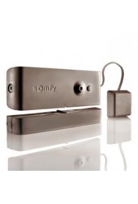 Somfy alarme : détecteur d'ouverture et bris de vitre marron (SO 2400932) détecte la vibration exercée sur la vitre lors d?une t