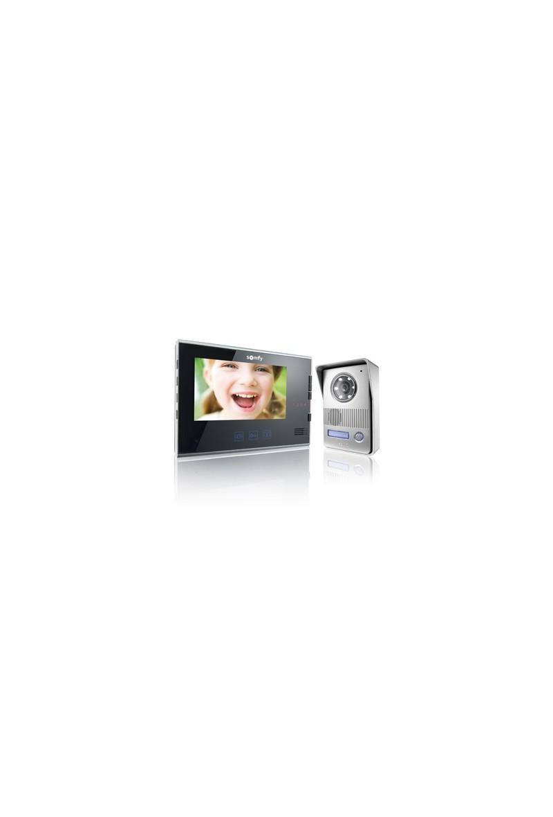 somfy visiophone v400 noir plug and play so 2401295 expert domotique. Black Bedroom Furniture Sets. Home Design Ideas